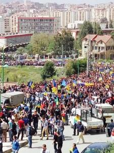 Marche MAK à Tizi Ouzou